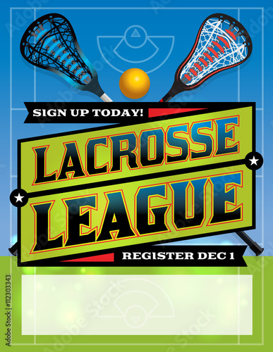 Lacrosse League Template Design - Buy this stock vector and explore ...
