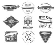 Vintage Airship Logo Designs S...