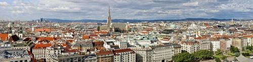Deurstickers Wenen Wien Panorama