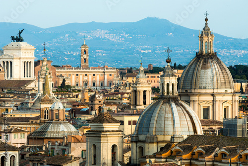 View of Rome, roofs and domes - 112322532