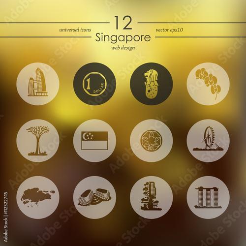 Photo  Set of Singapore icons