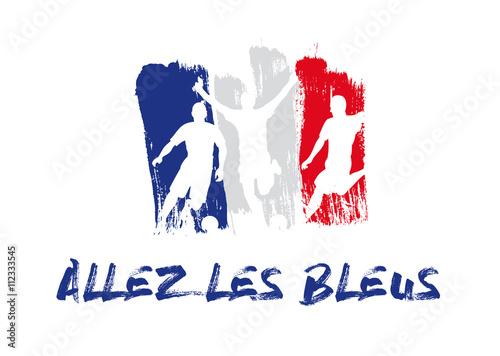 Fotografia Football - Allez les bleus