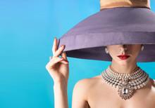 Girl In Vintage Hat