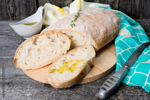 obraz lub plakat Traditional Italian bread ciabatta