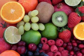 FototapetaFresh Fruit Super Food Background
