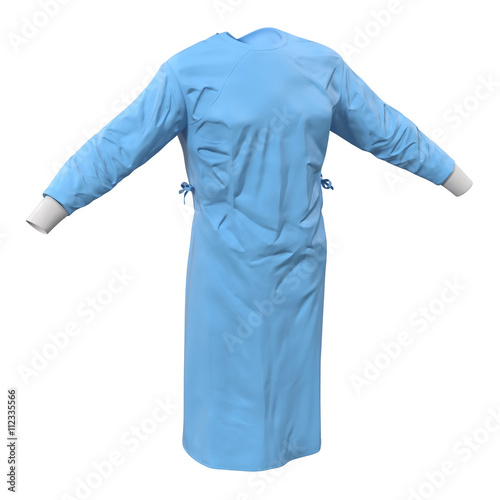Photo Surgeon Dress isolated on white 3D Illustration