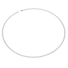 White Gold Chain Jewelry. Isolated On White 3D Illustration