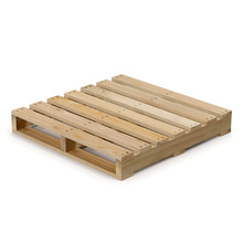 Wooden Pallet Isolated On White 3D Illustration