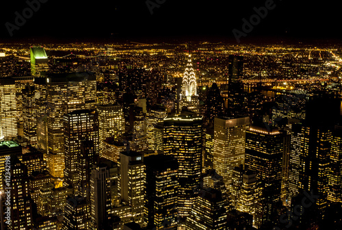 Foto op Aluminium Stad gebouw New York Streets by Night