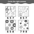 Counting Game for Children. Education game with music items