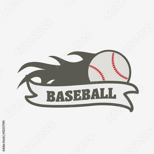 Baseball logo, badge or label design template. Baseball ball with ...