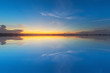 Soft focus blue sky with sunset background in twilight