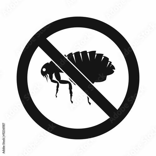 Fotografie, Tablou  No flea sign icon, simple style