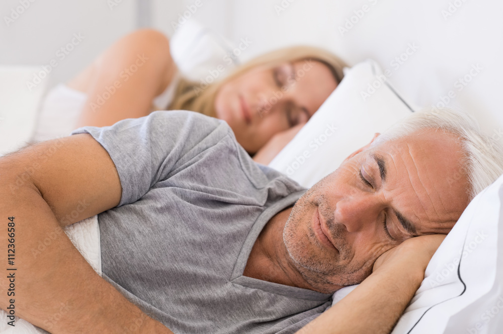 Fototapety, obrazy: Couple sleeping in bed