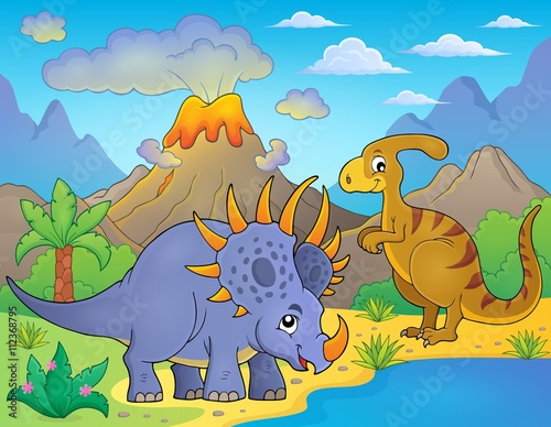 Deurstickers Dinosaurs Dinosaur topic image 8