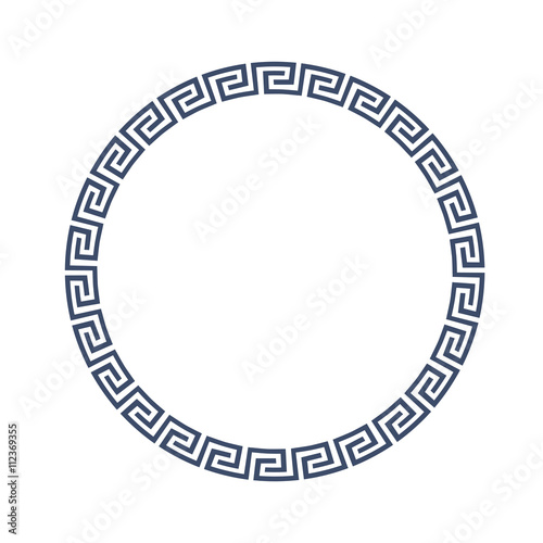 Photo  Round decorative frame for design in Greek style