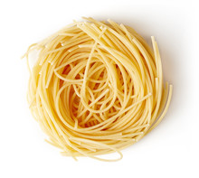 Pasta Nest Isolated On White, ...