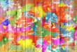 canvas print picture - Color Graffiti Wall Background