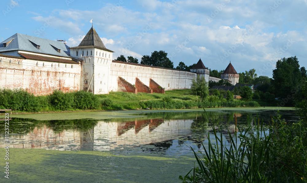 Wall around the Borisoglebskiy monastery, Yaroslavl region
