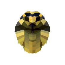 Snake Head Illustration Low Poly Style For Design Modern Quality Logos