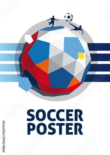 Photo fussball poster vector
