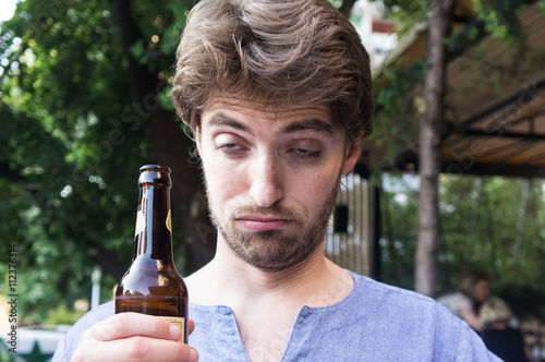 Fotografering  Drunk young man