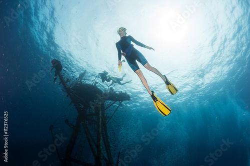 La pose en embrasure Plongée Free diver