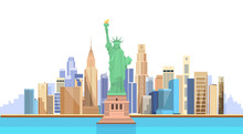 Liberty Statue United States New York City View
