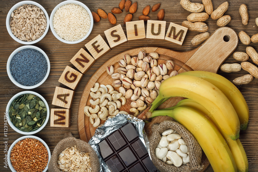 Fototapety, obrazy: Products containing magnesium