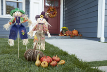 Decorations In Garden Of House Celebrating Thanksgiving