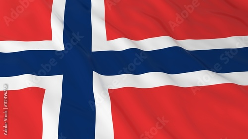Norwegian Flag HD Background - Flag of Norway 3D Illustration Canvas Print