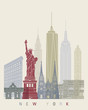 New York skyline poster