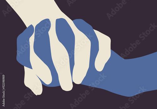 Fotografie, Obraz  Main dans la main - Paix - Fraternité