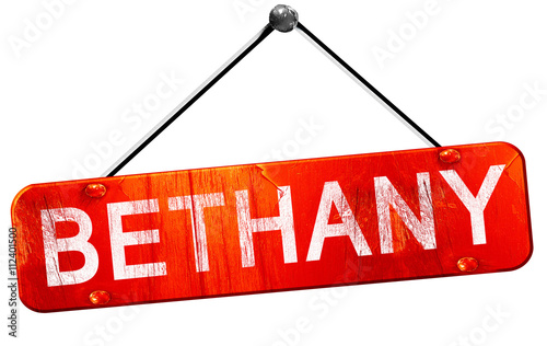 bethany, 3D rendering, a red hanging sign Wallpaper Mural