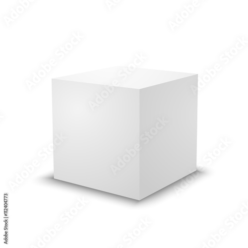 Blank white cube 3d box template buy this stock vector and blank white cube 3d box template maxwellsz