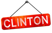 Clinton, 3D Rendering, A Red H...