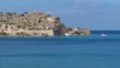Amazing view of Spinalonga island not far from Crete, Greece.