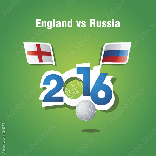 Photo  Euro 2016 England vs Russia vector background