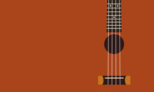 Ukulele Background Flat Design...