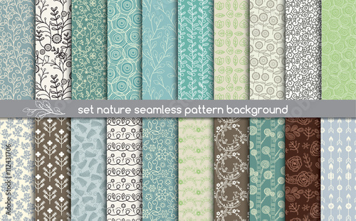 Foto op Canvas Kunstmatig set nature seamless patterns.pattern swatches included for illustrator user, pattern swatches included in file, for your convenient use.