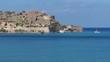 landscape, nature, splendid view to spinalonga island near Crete.