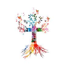 Vector Illustration Of Colorfu...