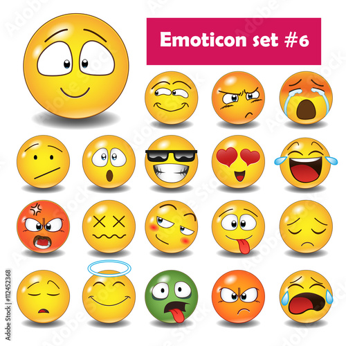Set of emoticons N6 Poster