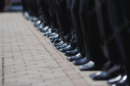 Photo  Boot row of cadets