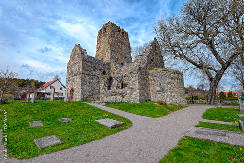 Ruins of St. Olof's Church in Sigtuna фототапет