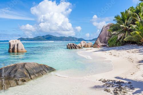Foto op Canvas Tropical strand plage d'Anse Source d'Argent, la Digue, les Seychelles
