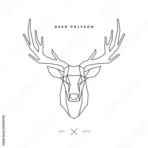 deer frame on white