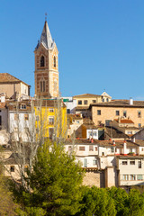 Fototapeta na wymiar Typical streets and buildings of the famous city of Cuenca, Spain
