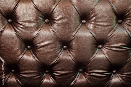 Fototapety, obrazy: Vintage brown leather sofa