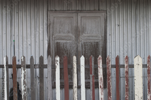 Poster Glisse hiver Wooden Window